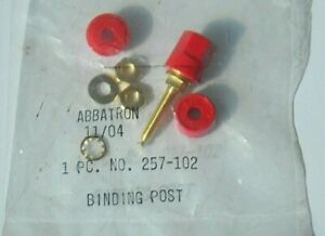 Abbatron Hh Smith 257 102 Binding Post Red Insulated Hex Shaped W Gold Plate