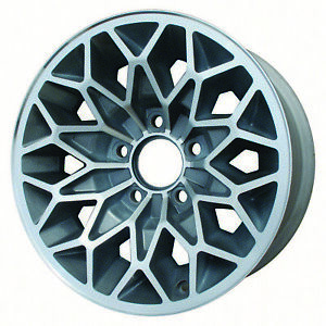 15x7 Snowflake Refurbished Pontiac Aluminum Wheel Charcoal Machined 01213