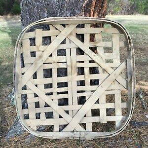 Antique Original Tennessee Tobacco Basket Handmade Barn Kept Original Side Paint