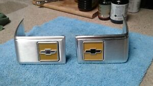1981 1987 Chevy Truck Parts Cab Corners Emblems Badges Trim Original Oem Vintage