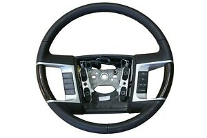 Oem Lincoln 09 10 Mkx Steering Wheel Without Sync Black Leather Wood 9a1z3600ga