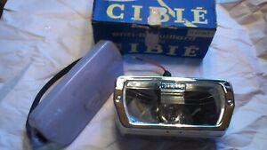 Vintage Cibie Type 90 France Driving Light Nos With Plastic Lens Guard