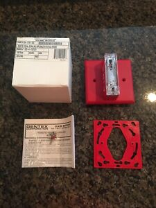 new Gentex Fire Alarm Strobe Model Gxs 4 1575 cr Red Ceiling Mount