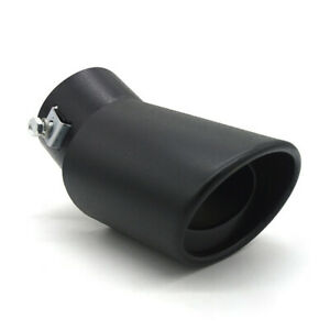 Matte Black Car Exhaust Pipe 62mm Stainless Steel Bend Muffler Tip Tail Throat