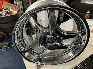 Lowenhart Lsr 3pc 20 X 10 Et 45 5 112 Chrome Made In Japan One Wheel Only