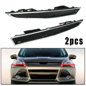 2pcs Abs Car Headlight Lower Trim Cover Parts For Ford Escape 4 door 2013 2016