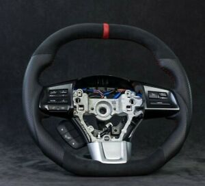 2015 2020 Subaru Wrx Sti Oem Steering Wheel Red Stitching Custom