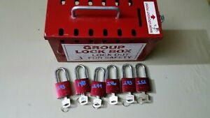Accuform Kcc617 Group Lockout Box 6 Padlocks