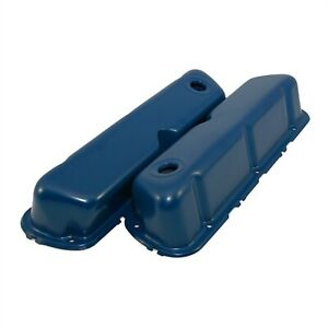 Dark Blue Steel Valve Covers New 62 85 Small Block 260 289 351w Sbf Ford 302