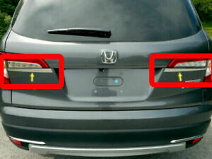 Stainless Steel Trunk Hatch Accent Trim 2 Pc Fits 2016 2020 Honda Pilot