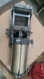 Heinrich 6 Air Vise Double Action Used Also Welded To Large Plate