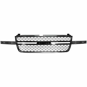 Grille Chrome Shell painted Gray Fits Silverado 2500 Hd Classic Gm1200546