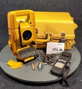 Topcon Gts 2r Total Station Theodolite Survey Scope Case Battery Pack Etc