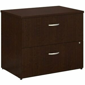 Bush Business Furniture Office In An Hour Lateral File Cabinet In Mocha Cherry