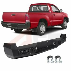 Steel Rear Bumper Assembly For 2005 2015 Toyota Tacoma Face Bar Winch