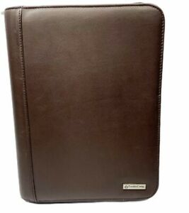 Franklin Covey Brown Genuine Leather 755351 Planner 7 Ring Binder 10 X 7