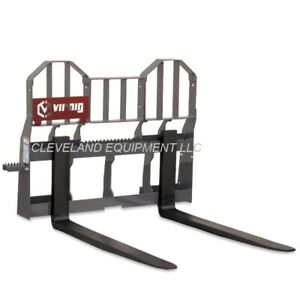 New 48 Virnig Hi vis Walk Thru Pallet Forks Frame Attachment Skid Steer Loader