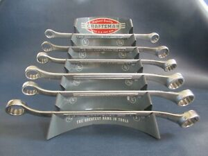 Vintage Craftsman V Series 6 Pc Offset Double Box End Wrench Set With Holder