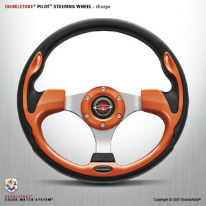 Double Take Pilot Steering Wheel Base Only Factory Boxed New Orange