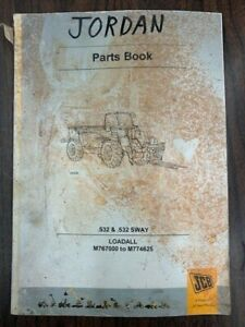Jcb 532 532 Sway Loadall Parts Manual 9800 7862 Issue 9