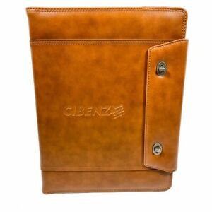 Cutter Buck Legacy Tri fold Twist Lock Business Leather Padfolio Cibenza