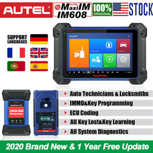 Autel Maxiim Im608 J2534 Ecu Key Programming Diagnostic Scan Tool Multi language