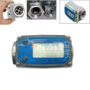 Turbine Digital Diesel Fuel Flow Meter Oval Gear Flow Gauge Bspt npt 1 200l min