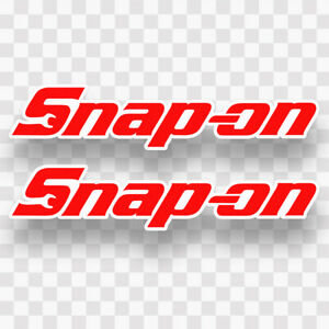 2x Snap On Decal Stickers Vinyl Snapon Toolbox Tools Mechanic Window Truck Car