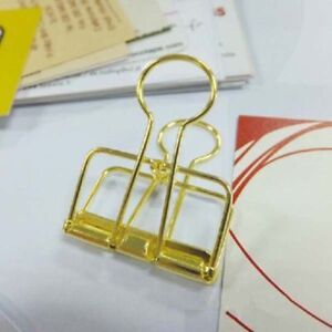 48pcs 32mm Binder Clips School Office Learning Supplies Dovetail Clip Paper Clip