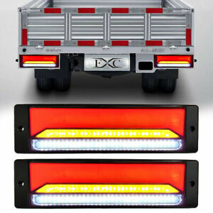 12 Led Waterproof Tail Lights Kit Rv Camper Trailer Truck Rear Turn Signal 12v