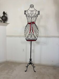 French Paris Black Metal Scrolled Decorative Dress Form pick Up Only