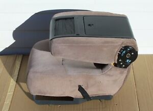 92 96 Ford F150 F250 Bronco 97 F350 Center Console Assembly Tan Cloth Oem