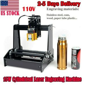 Cylindrical Laser Engraving Machine Metal Steel Iron Stone Engraver Diy Printer_