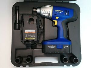 Goodyear Model 33609 24v Electric 1 2 Impact Wrench Set Excellent Condition