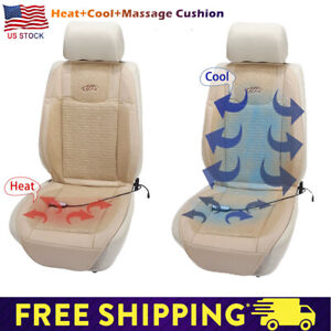 1x Beige Car Seat Cover Cooling Heated Cushion Warmer Cooler Massage Chair Pad