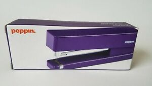 Poppin Purple Office Dorm Accessories Stapler Pens Organizer Tape Notebook Tray