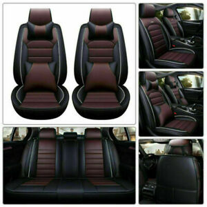 Luxury Pu Leather Car Suv Seat Cover Full Protector Cushions 5 Seats Universal