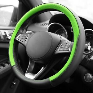 Geometric Chic Genuine Leather Steering Wheel Cover Universal Fit