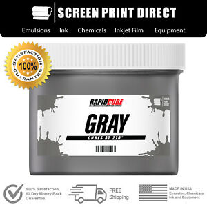Gray screen Printing Plastisol Ink Low Temp Cure 270f 8oz