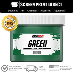Green Screen Printing Plastisol Ink Low Temp Cure 270f 8oz