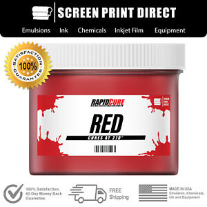 Red Low Temperature Cure Plastisol Ink For Screen Printing 8oz
