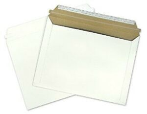 100 Shipping Envelopes 9 5 12 5 Document Photo Mailers Self Seal Rigid Cardboard