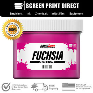 Fuchsia Screen Printing Plastisol Ink Low Temp Cure 270f Quart 32oz