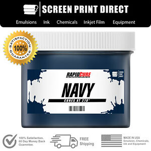 Navy Screen Printing Plastisol Ink Low Temp Cure 270f Quart 32oz
