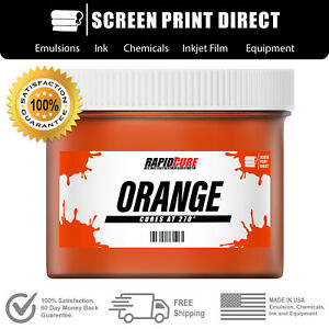 Orange Screen Printing Plastisol Ink Low Temp Cure 270f Quart 32oz