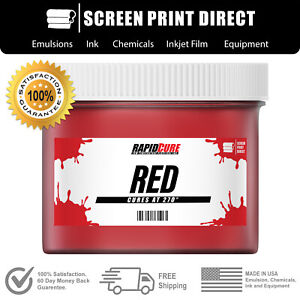 Red Low Temperature Cure Plastisol Ink For Screen Printing Quart 32oz