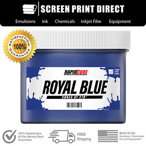 Royal Blue Low Temperature Cure Plastisol Ink For Screen Printing Quart 32oz
