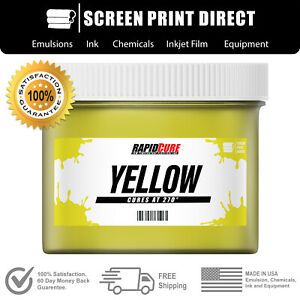 Yellow Screen Printing Plastisol Ink Low Temp Cure 270f Quart 32oz