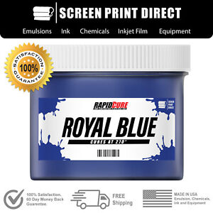 Royal Blue Low Temperature Cure Plastisol Ink For Screen Printing Gallon