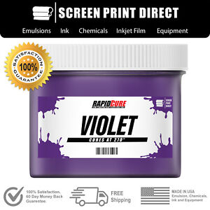Violet Screen Printing Plastisol Ink Low Temp Cure 270f Gallon 128oz